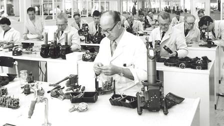 The plating shop in about 1964. [Picture: Redbridge Information and Heritage]