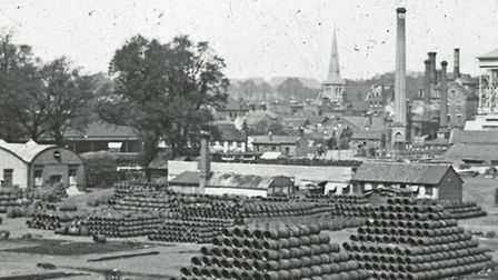 Romford Brewery yard around the 1890s. Picture London Borough of Havering Local Studies