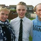 Kane Blackledge with his mum Susanne and dad Lee