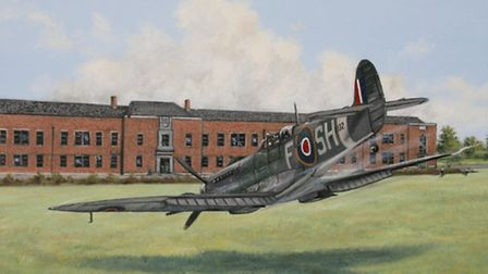 'Selfless Hero' by Barry Weekley, to commemorate the 69th anniversary of the pilot's death