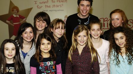 Joel with students in Brent Cross, 2009