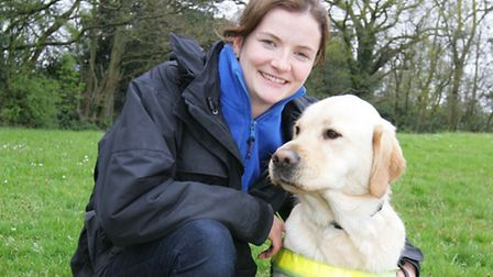 The Guide Dogs for the Blind Association, Woodford Trainer Alex Nash, with Leeon.