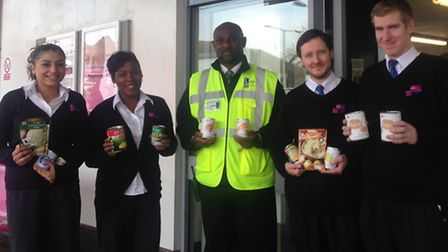 c2c staff launch the foodbank appeal