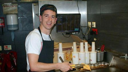Lloyd James and other Leyton Orient players and staff took over the running of the Nando's restauran