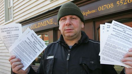 Cllr Tucker with leaflets for his campaign