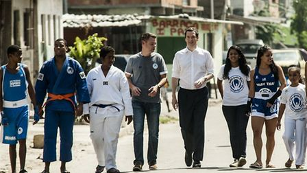 George Osborne MP visited the Fight for Peace Academy in Brazil Picture Ingrid Cristina