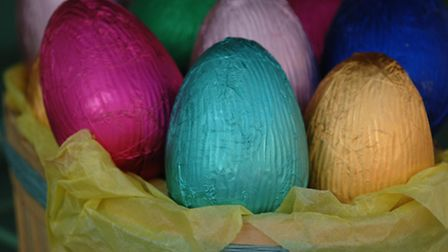 Children were given Easter eggs and a booklet on the Easter story. Picture: Fiona Hanson