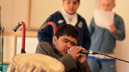 Murad Shaikh was among the youngsters who enjoyed the varied activities at the hospice