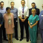 The pathology team at Queen's Hospital include clinical director Geraldine Soosay (second left) and