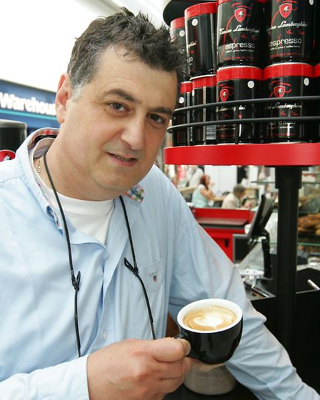 Lamborghini coffee, in Liberty Shopping Centre.