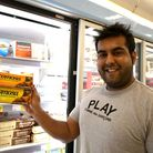 Ajay Kainth with his own chocolate samosas called Chocomosa that are now being sold in selected bran