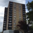 A fire broke out at the block of flats, Bridle Path, in Woodford Green, yesterday morning just befor