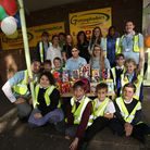 Members and staff of Gymophobics Hornchurch presented Easter eggs to children from the charity ADD+U