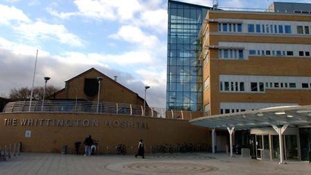 The Whittington Hospital in north London, where Dr Dhanoun Dharmasena is alleged to have carried out