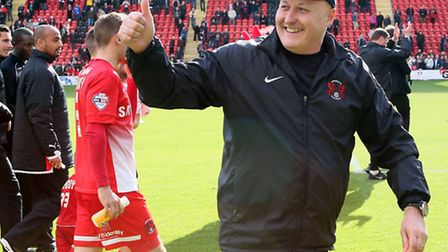 O's manager Russell Slade has called on the fans to help them at Wembley (pic: Simon O'Connor)