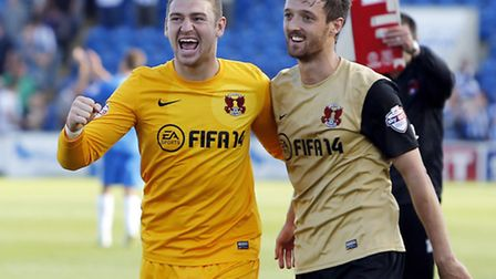David Mooney (right) was on target during Orient's win at MK Dons (pic: Simon O'Connor)