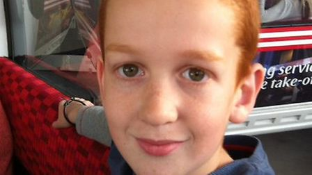 Harry Wolff, nine, who has completed a cycling challenge in memory of his grandmother. [Picture: Gre
