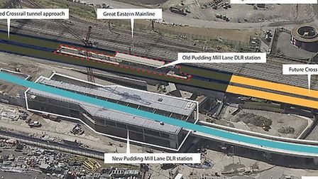 The new Pudding Mill Lane DLR station sits next to Queen Elizabeth Olympic Park