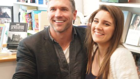 L-R Mark Killeen, who plays Mero in Game of Thrones, with author Lilly Say. Photo credit: Glyn Taylo