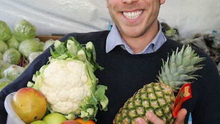 Reporter Harry Kemble , with his seven a day.