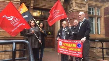 Representatives from several trade unions marked Workers Memorial Day at East Ham Town Hall Picture:
