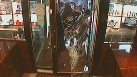Thousands of pounds of jewellery was taken during the raid in Seven Kings, east London