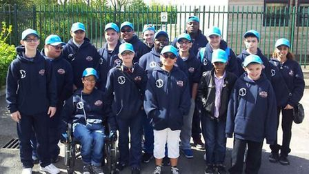 Children from the Time To Shine Newham disabiliy club at Stoke Mandaville