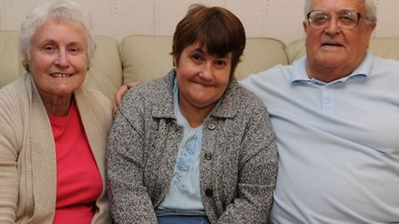 Left to right: Barbara, 78, Lynn, 54 and Henry, 78, Constable