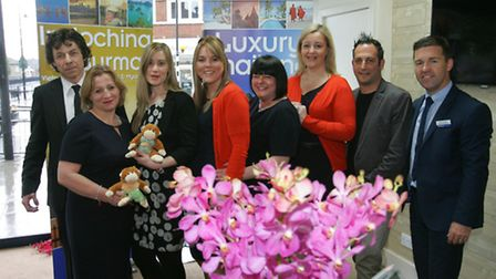Staff from Abbots travel celebrate the Asian Occasion launch