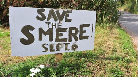 Save The Smere posters have been placed around Reydon. The posters are protesting against the propos