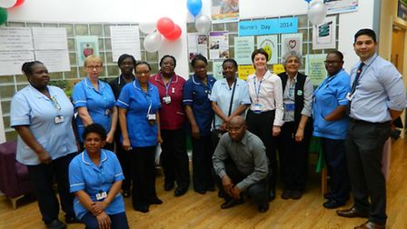 Some of the staff at East Ham Care Centre who celebrated International Nurses Day