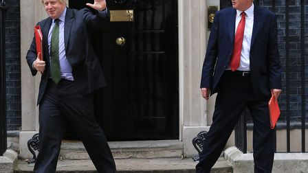 Boris Johnson and David Davis resigning from the government. Photo: PA / Gareth Fuller