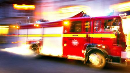 Four fire crews were called to the blaze in High Street North, Manor Parl