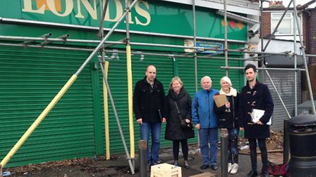 The Shenfield Road Shop Residents Group formed after a fire destroyed part of the roof of the Londis