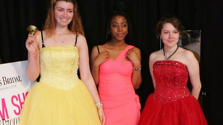 Students with their dresses for the proms night