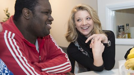 Actress Natalie Dormer with care leaver Simeon Sargeant, who is supported through Barnardo's Redbrid