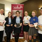 Winner Melissa (middle) with the runners up and judges Paul Gayler (far left) and Matt Smith (far ri