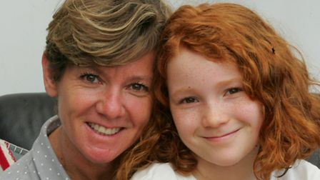 Angela Holmes with her daughter Lizzie