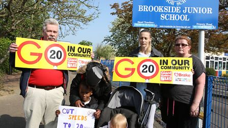 From left, Cllr Pat Murray, Hani Mohammed and her son Riyad Mohammed, four, Kristy Smith and daughte