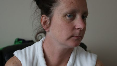 Pauline Henkel was attacked with a handbag by a woman on the way to the park with her son. She has a
