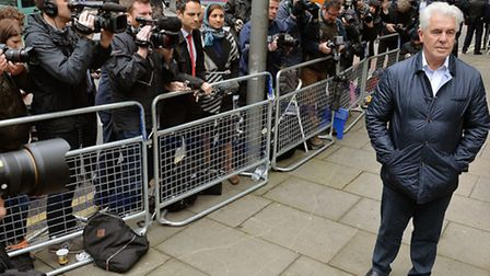 Publicist Max Clifford, arriving at Southwark Crown Court, where he was sentenced for a string of in