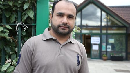 Syed Zaidi outside the polling station at Downshall Primary School in Seven Kings.
