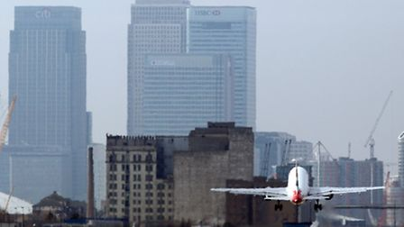 The plane was forced to return to London City Airport.