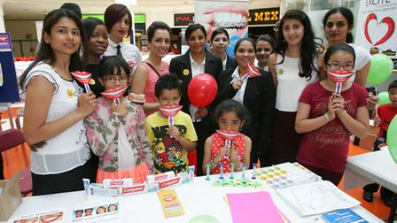 National smile month is celebrated at the mall in Ilford