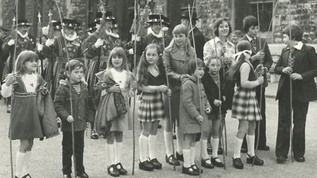 Children in the 1970's taking part in the historic tradition. Picture: Tower of London.