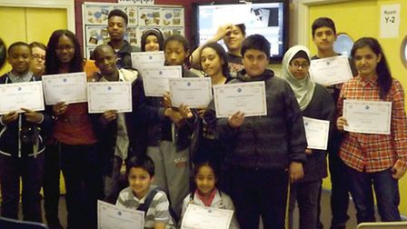 Young carers from Newham learnt about the creative process during a project designed to give them ti