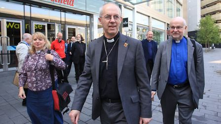 The Archbishop of Canterbury visits Westfield Stratford City.