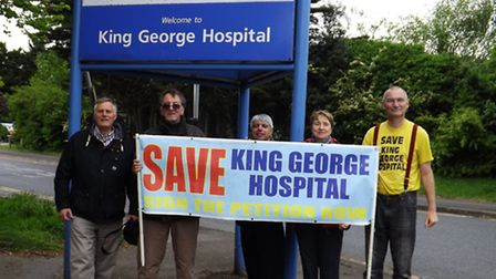 Save King George Hospital supporters outside the hospital