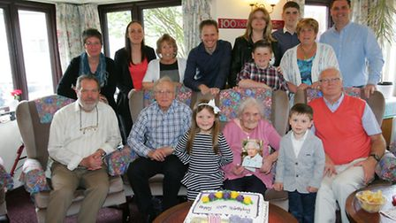 Mary Adshead celebrates her 100th birthday with family and friends