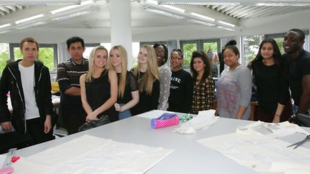 Fashion students at Havering College